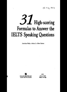31 High-scoring Formulas to Answer the IELTS Speaking Question(1).