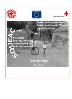 DS de Kayes et Yélimané, Région de Kayes. Rapport SQUEAC