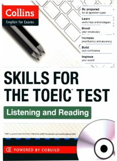 SKILLS FOR THE TOEIC TEST Listening and Reading