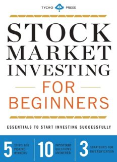 Stock market investing for beginners : essentials to start investing successfully