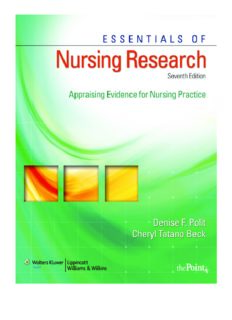 Essentials of Nursing Research: Appraising Evidence for Nursing Practice (Essentials of Nursing Research (Polit))