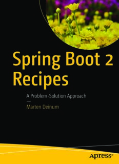 Spring Boot 2 Recipes: A Problem-Solution Approach