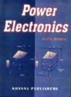 Power Electronics by Ps bimbhra