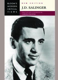 J.D. Salinger (Bloom's Modern Critical Views), New Edition