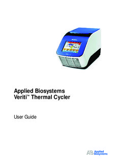 Applied Biosystems Veriti™ Thermal Cycler User Guide (PN 4375799)