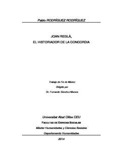 Pablo RODRÍGUEZ RODRÍGUEZ JOAN REGLÀ, EL HISTORIADOR DE LA CONCORDIA ...