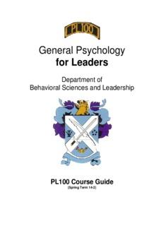 General Psychology for Leaders