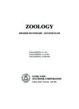 Zoology: higher secondary - second year - Textbooks Online