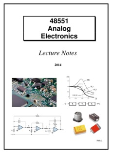 McLean Analog Electronics Lecture Notes - UTS