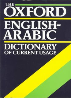 The Oxford English Arabic Dictionary of Current Usage