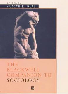 Blackwell Companion to Sociology