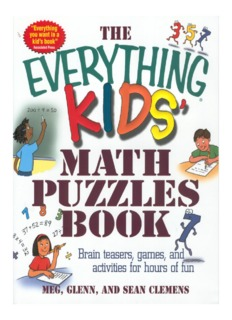 The Everything Kids - Math Puzzles Book