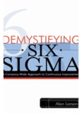 Demystifying Six Sigma: A Company–Wide Approach to Continuous Improvement