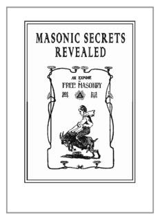 Masonic Secrets Revealed - Secrets of the Masons