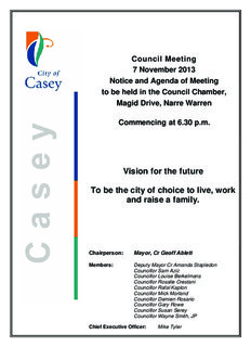 Agenda - City of Casey - Victorian Government