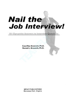 Nail the Job Interview 101 Dynamite Answers to Interview Questions