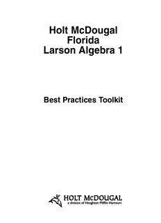 Holt McDougal Florida Larson Algebra 1 - RJSSOLUTIONS.COM