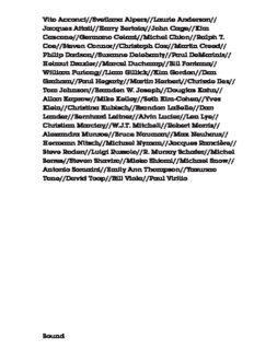 Vito Acconci//Svetlana Alpers//Laurie Anderson// Jacques Attali//Harry Bertoia//John Cage//Kim ...