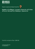 Inventory of the Mosses, Liverworts, Hornworts, and Lichens of