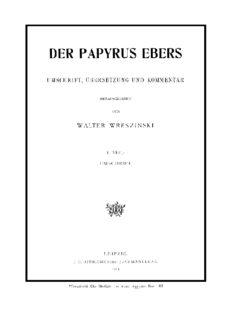 Der Papyrus Ebers