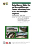 Spring/Summer Habitat Use and Seasonal Movement Patterns of Predatory Fishes in the Lake ...