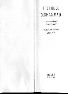 Ibn Ishaq. The Life of Muhammad. A translation of Ibn Ishaq's `Sirat Rasul Allah', with Introduction and Notes by A. Guillaume
