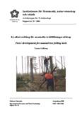 Kraftutveckling för manuella trädfällningsredskap - DiVA Portal