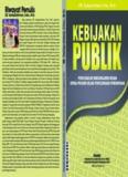 Kebijakan Publik Oleh Dr. Taufiqurokhman., M.Si