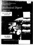 Naval Surface Warfare Center Dahlgren Division Technical Digest. Advanced Materials Technology