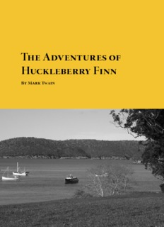 Download The Adventures of Huckleberry Finn By Mark Twain in pdf
