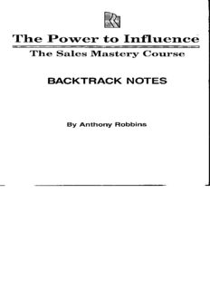 Anthony Robbins THE POWER TO INFLUENCE.pdf