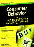 Consumer Behavior For Dummies (For Dummies (Business & Personal Finance))