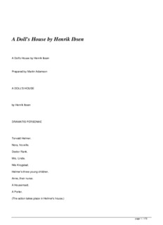 A Doll's House by Henrik Ibsen - Full Text Archive