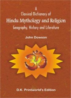 Dictionary of Hindu Mythology and Religion by John Dawson