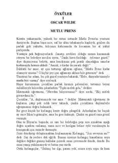 ÖYKÜLER I OSCAR WILDE MUTLU PRENS - vivo-book.com
