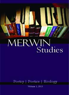 PDF Version of Volume 1 - Merwin Studies