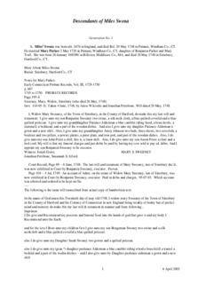 Cindy Radway's Complete Miles Swena File