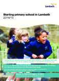 Starting primary school in Lambeth 2014/15 booklet - Lambeth Council
