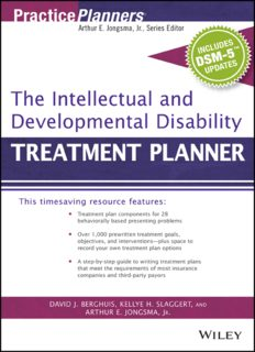 The Intellectual and Developmental Disability Treatment Planner (with DSM 5 Updates)