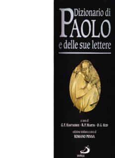 Dizionario di Paolo e delle sue lettere