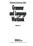 GLENCOE LANGUAGE ARTS Grammar and Language Workbook - JWLA