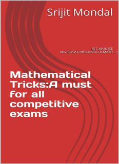 Mathematical Tricks A must for all competitive exams IIT JEE MAIN JEE Advanced BITSAT RMO B.STAT B.Math Srijit Mondal ISI Forum