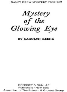 The Mystery of the Glowing Eye (Nancy Drew Mystery Stories, No 51)