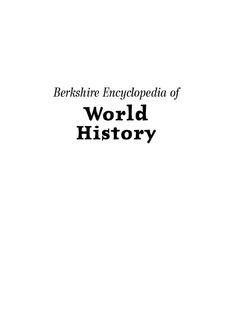 Encyclopedia Of World History Vol II