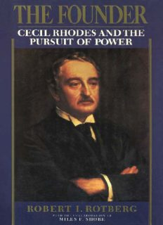 The founder : Cecil Rhodes and the pursuit of power
