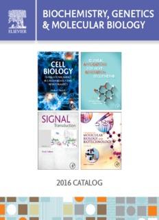 BIOCHEMISTRY, GENETICS & MOLECULAR BIOLOGY