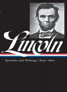 Abraham Lincoln. Speeches & Writings 1859-1865 (Library of America #46)