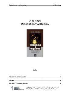 Jung, Carl Gustav. Psicología y alquimia