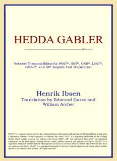 Hedda Gabler (Webster's Thesaurus Edition)