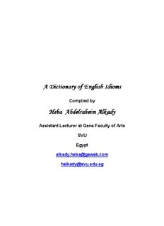 A Dictionary of English IdiomsA Dictionary of English Idioms